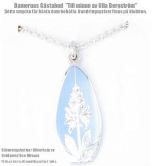 Halssmycket som går till den dam som har bästa brutto, Tillverkning och design guldsmed Boo Nilsson