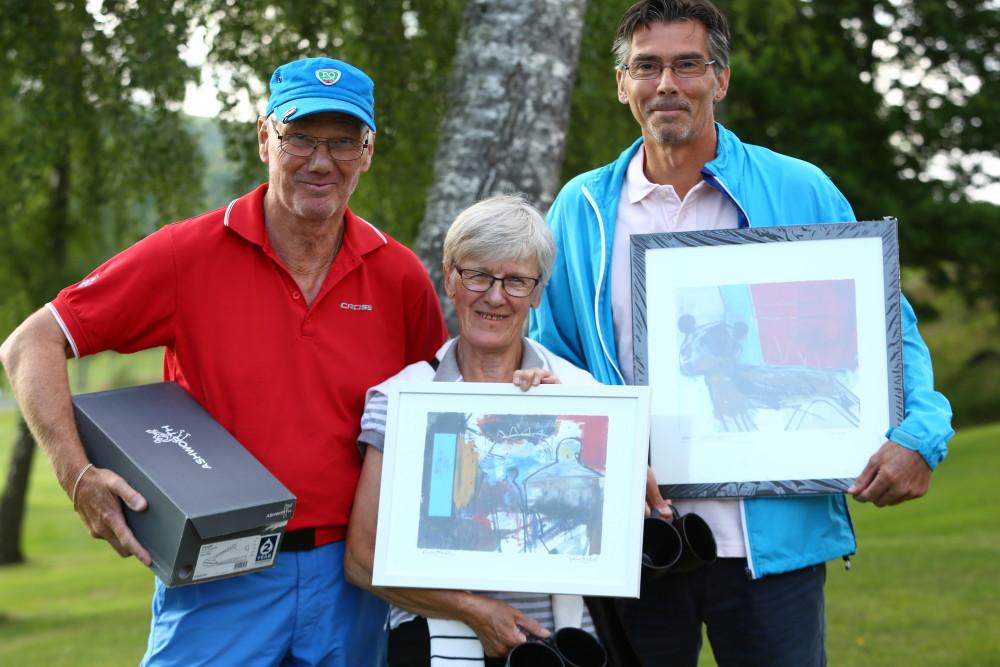 Tvåor i resp klass - B Nils-Erik Duseng, C Maja-Stina Hansson och A Blaise Watson
