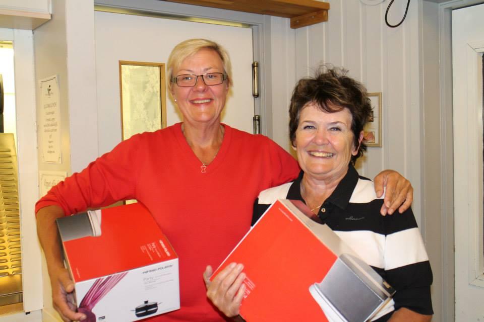 Vinnare Birgitta Ewerlöf och Gunnel Thunström