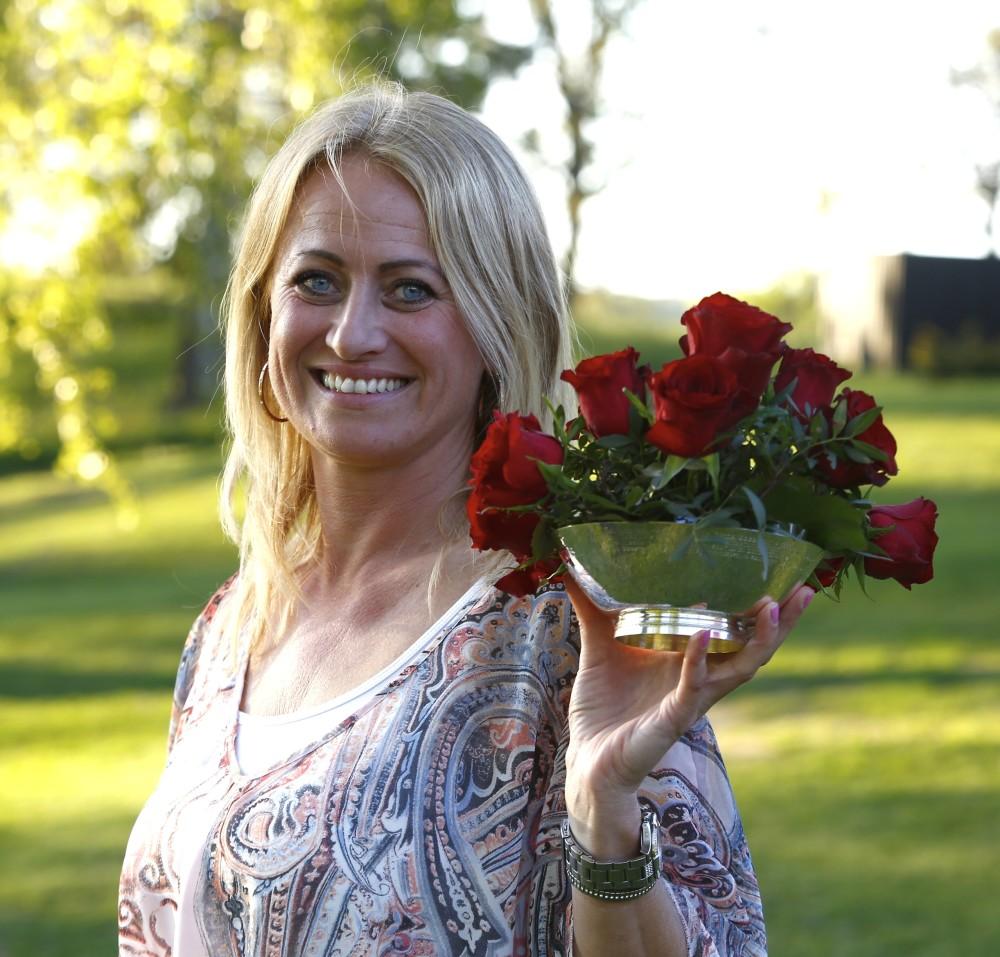 Pernilla Eriksson blev lycklig vinnare av Rose Bowl med den för dagen överlägset bästa scoren på 38 poäng.