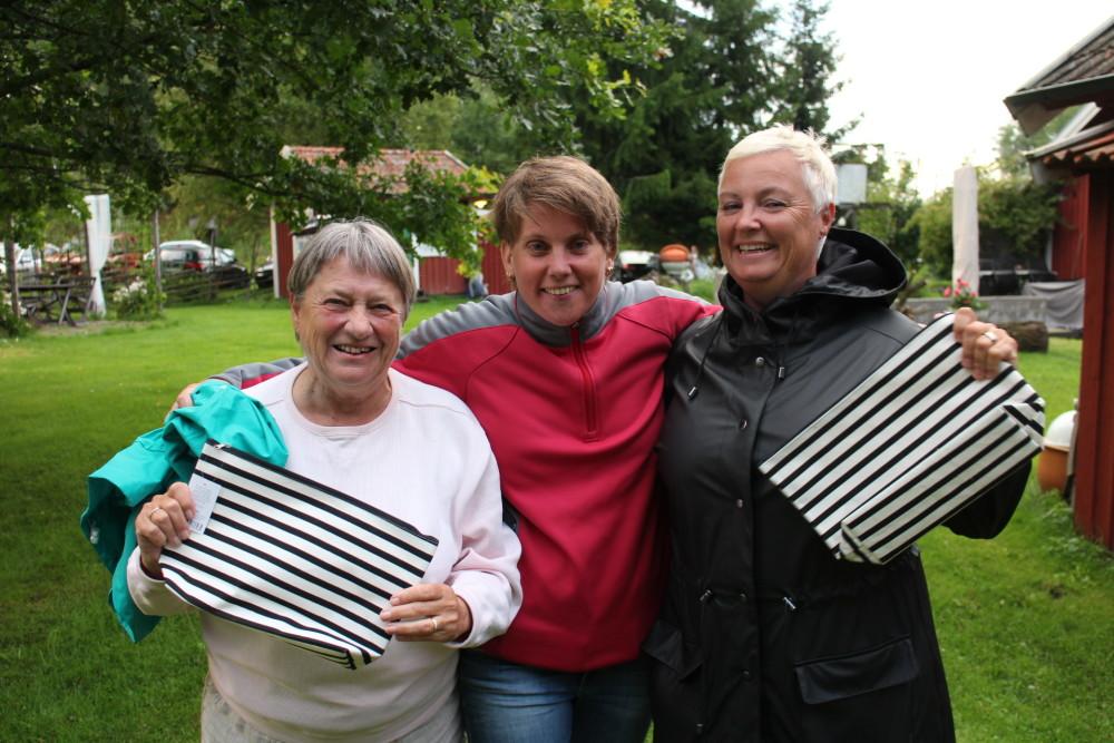 Tredje plats: Marianne Westin, Anna Erixon och Ann Granqvist.