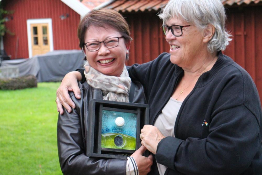 Dagens bästa score hade Connie Tidlund. 34 poäng och hon vann på lägre hcp över Annika Sundqvist som också hade 34 poäng.