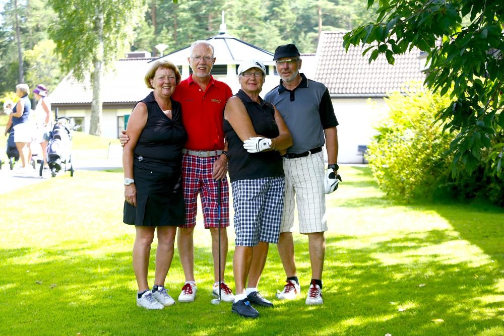 Annika och Jan Norberg spelade oavgjort mot Ylwa och Gunnar Lindqvist.