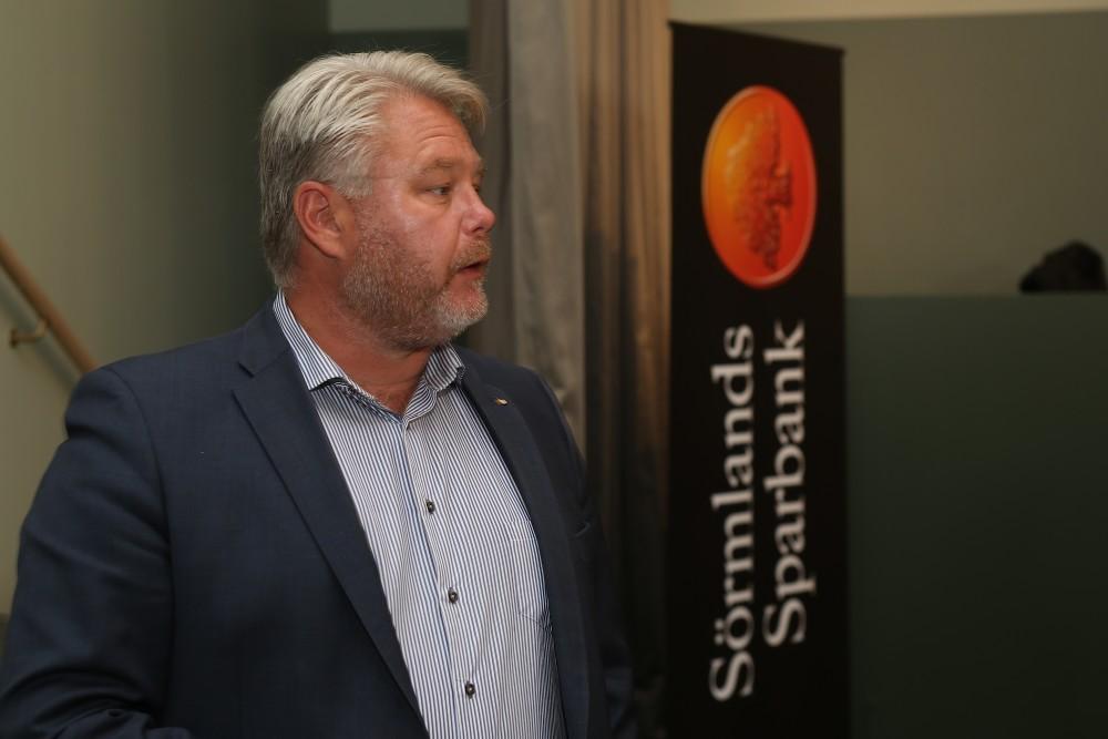 Sörmlands Sparbank informerade om sina samhällsnyttiga projekt.